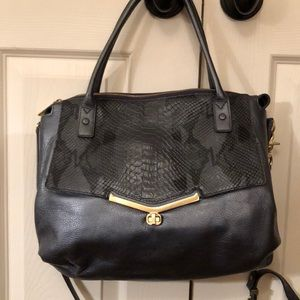Botkier Valentina Blue Snakeskin with Dustbag